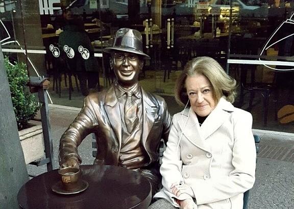 Una foto con Carlos Gardel