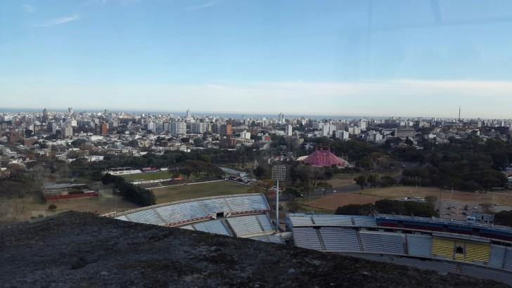Montevideo desde la Torre de los Homenajes