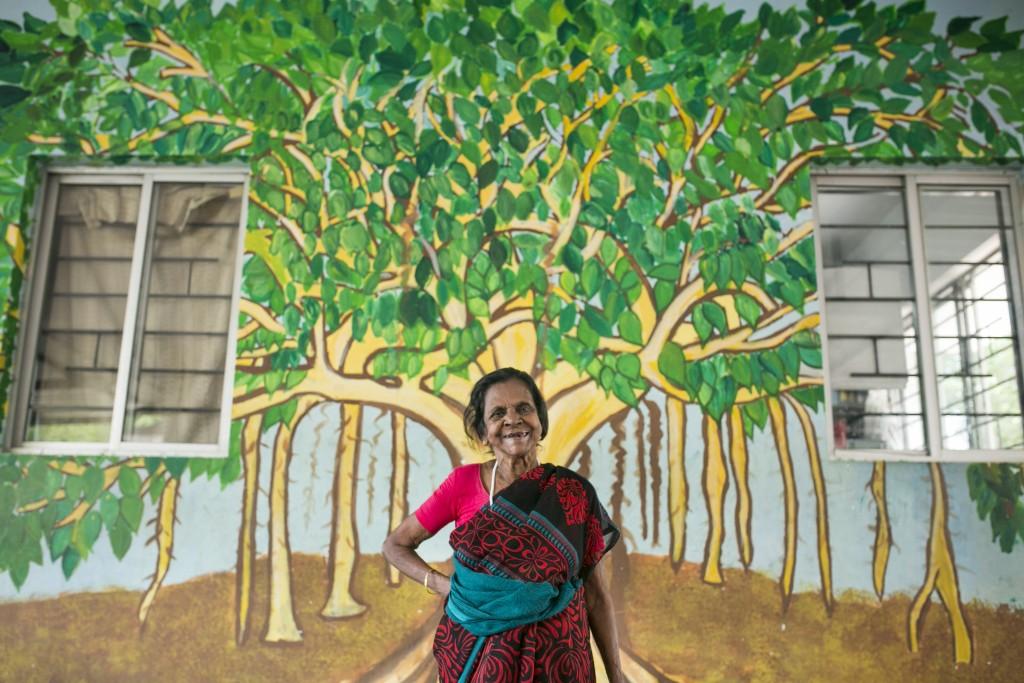 Una de las pacientes de la organización The Banyan en Chennai, India. Crédito: The Banyan