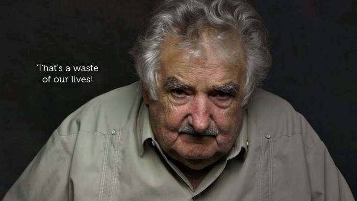 Mujica: 47 segundos y nada más