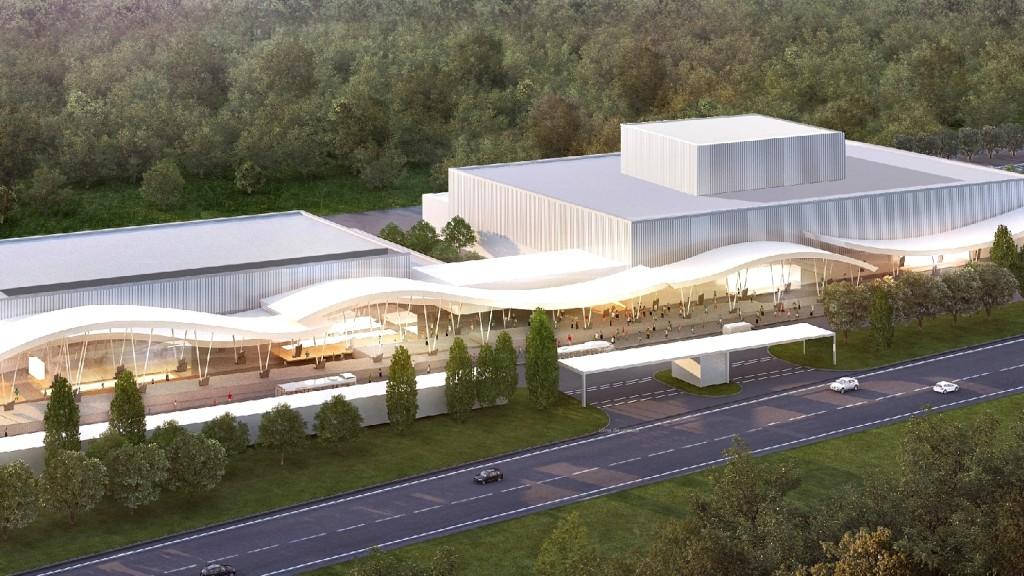 Ilustración digital del Centro de Convenciones y Exhibiciones de Punta del Este. Crédito: Punta del Este Convention & Exhibition Center