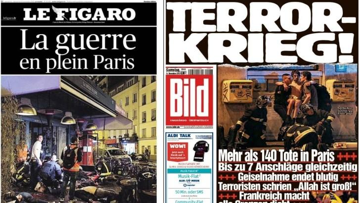 <em>Atentados en París</em><br>Así amanecieron el sábado las portadas de los diarios del mundo
