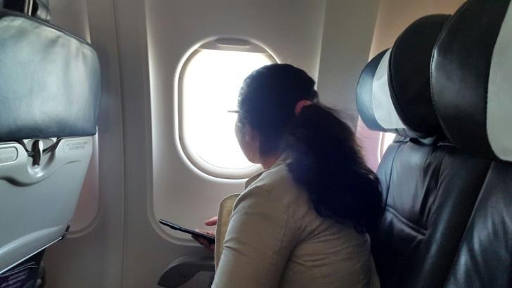 Niños volaron por primera vez en avión