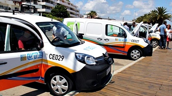 """Vehículos eléctricos: UTE duplicó su flota e inauguró primera """"estación de servicio"""" de carga eléctrica"""