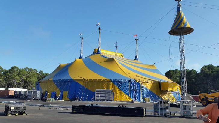 Los preparativos del Cirque du Soleil