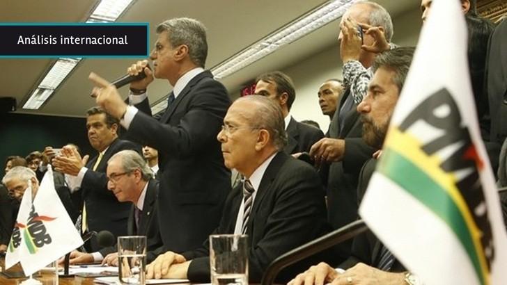 Brasil: PMDB rompe coalición de gobierno y se planta como alternativa al PT aunque no escapa a la crisis del sistema político