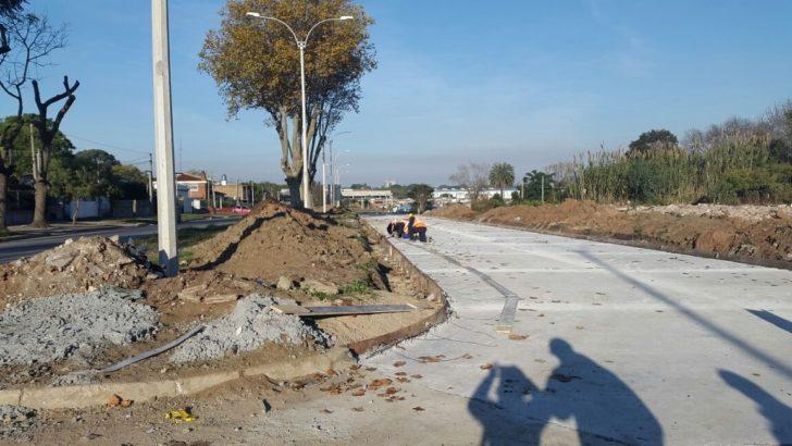 Avanza la construcción de la doble vía en la avenida Dámaso Antonio Larrañaga