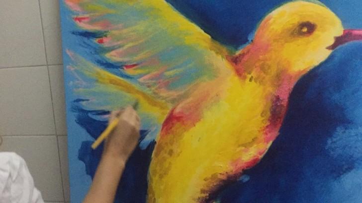 Pintura rinde homenaje a madres de la Fundación Álvarez-Caldeyro Barcia