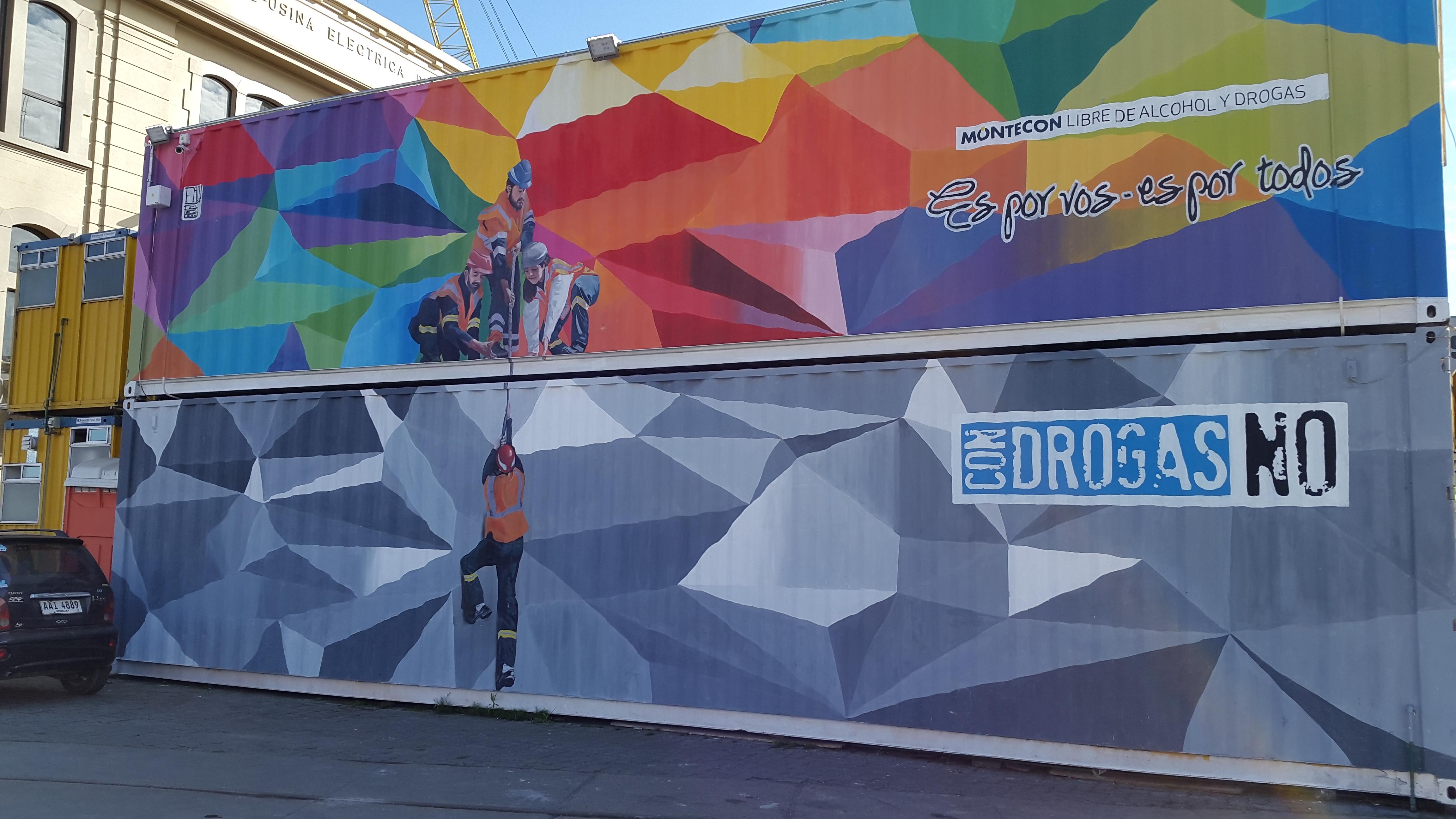 Montecon inició una campaña contra el consumo de drogas y alcohol