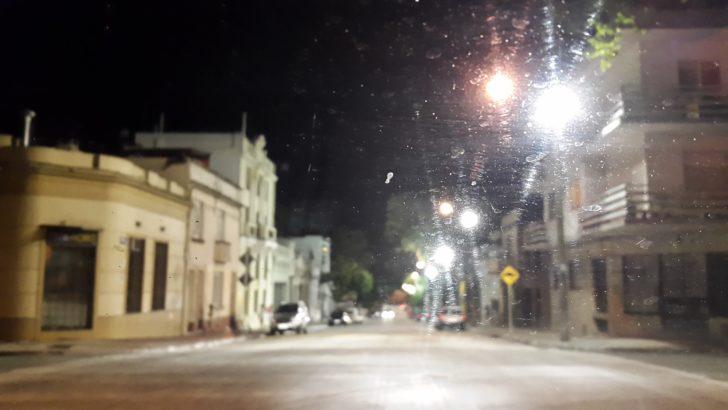 La nueva iluminación de la calle Isla de Flores