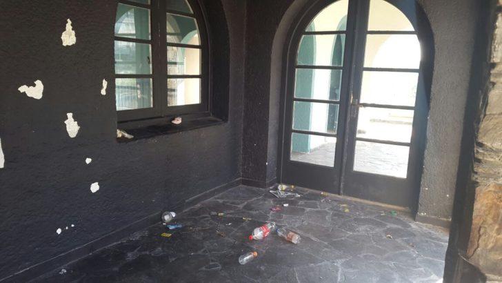 Ex sede del Club Banco Comercial: Deterioro y vandalismo en esquina privilegiada de la rambla