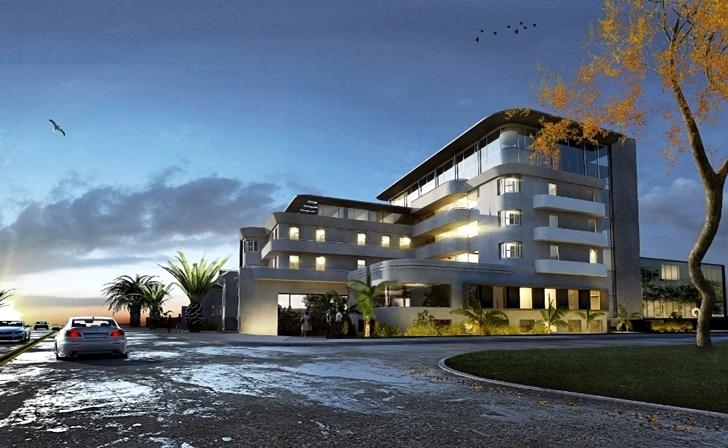 Ilustración digital del proyecto de renovación del ex Hotel Bristol.