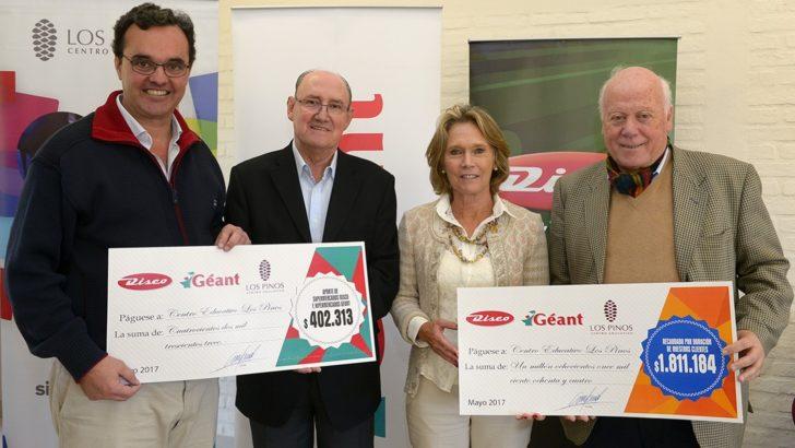 Campaña de Disco y Géant para Los Pinos superó los 2 millones de pesos