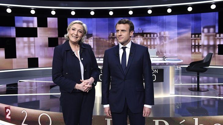 Pese a su inexperiencia, Macron sale airoso de un duro debate con Le Pen