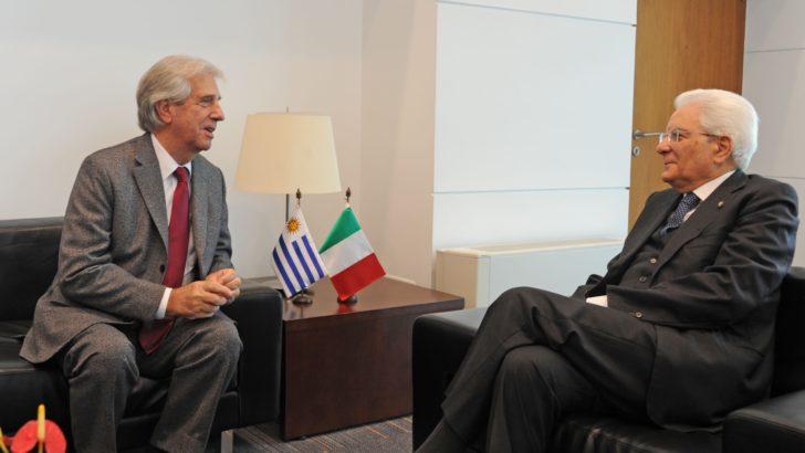 Vázquez y Mattarella refuerzan cooperación entre Uruguay e Italia
