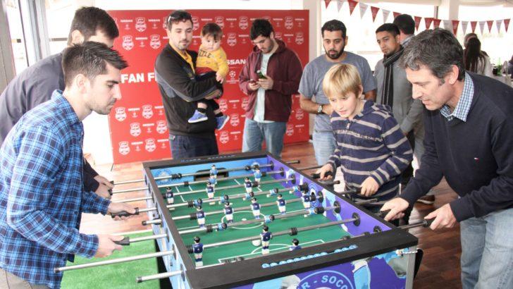 Hinchas uruguayos celebraron la final de la Champions en la <em>Nissan Fan Fest</em>