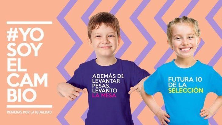 <em>Remeras de la igualdad</em> en el Día del Niño