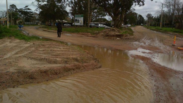 Calles de Lagomar intransitables por las intensas lluvias