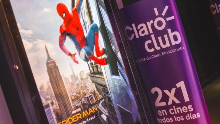 Clientes de <em>Claro Club</em> presenciaron la última película de <em>Spiderman</em> en 3D