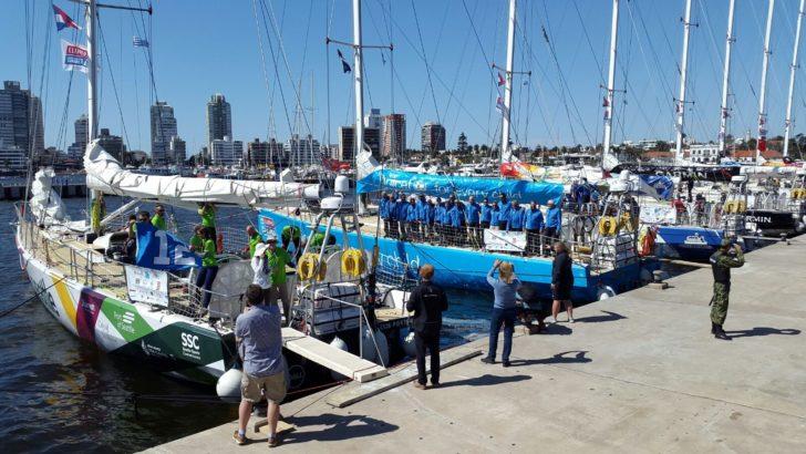 Punta del Este despidió a la regata Clipper Race