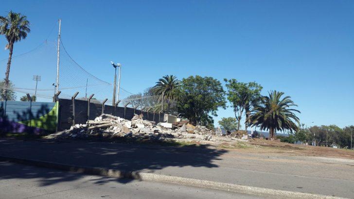 Demolieron cantón de barrido que estaba junto al estadio Franzini