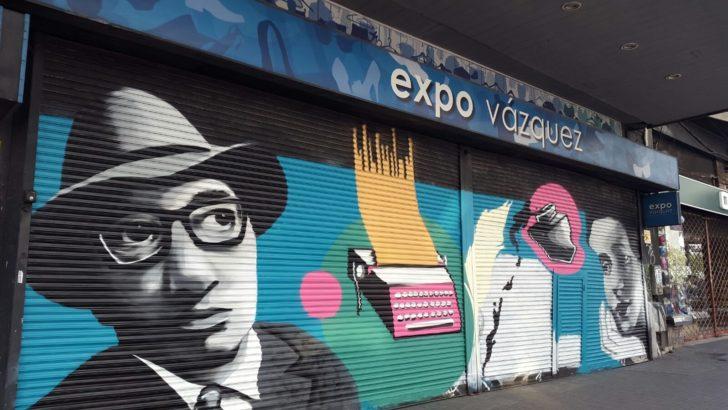 Experiencia piloto en cortinas sobre 18 de julio intenta solucionar vandalismo grafitero