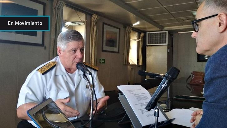 """200 años de la Armada: Aspiramos a ser una fuerza """"realista"""" capaz de proteger la soberanía y combatir nuevas amenazas, como el narcotráfico, dice su Cte en Jefe, Leonardo Alonso"""