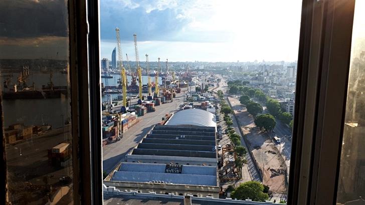 Una visita a la cúpula del edificio de Aduanas del Puerto de Montevideo