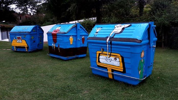 Alumnos de escuela en Carrasco intervinieron contenedores de basura