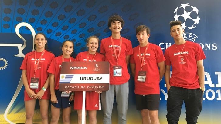 Nissan lleva a dos niños uruguayos a la final de la UEFA Champions League