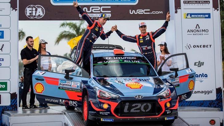 Doble podio para el equipo Hyundai en el Rally de Argentina