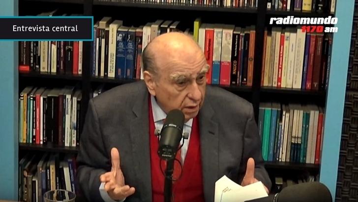 """Julio María Sanguinetti: """"No estamos viviendo en el Uruguay en el que nos criamos"""" porque """"tenemos crecimiento económico y decadencia social"""""""