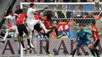 Vimos juntos Uruguay-Egipto: Durante el partido