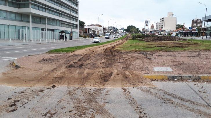 Intendencia de Montevideo construye bicisenda en Avenida Italia