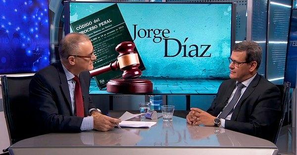 """Jorge Díaz: """"Asociar una modificación en el sistema procesal al incremento de delitos es inconsistente"""""""