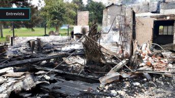"""Incendio en Club de Golf del Cerro no es el fin: """"Sigue vivo, sigue con muchos proyectos, más que nunca hay energía súper positiva para impactar en el barrio"""""""