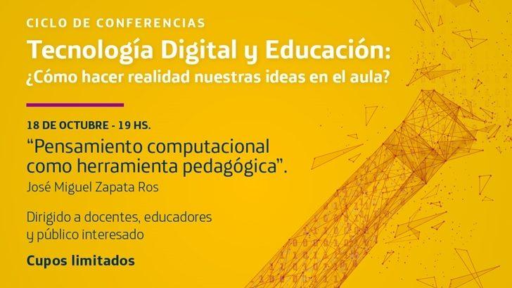 Llega a Uruguay Miguel Zapata Ros, experto en Pensamiento Computacional