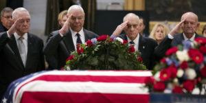 EEUU despidió al ex presidente George H. W. Bush, que falleció el viernes a los 94 años