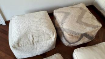 Bilanca design: Originales almohadones rellenos de cáscaras de arroz