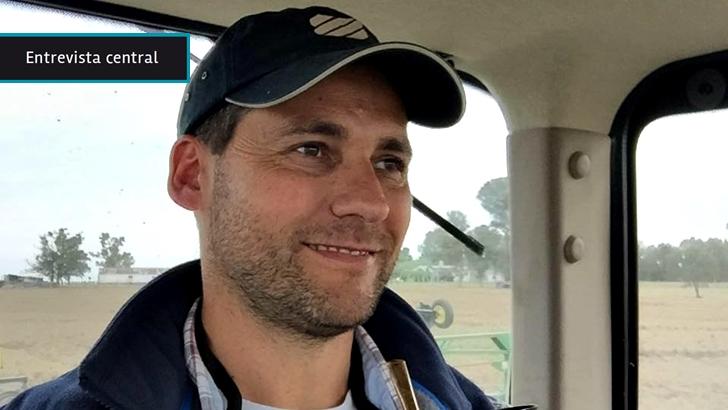 """Gabriel Carballal, un """"emprendedor» agropecuario que defiende la siembra directa, la diversificación y la tecnología; """"No solo estamos cosechando granos, también información"""""""