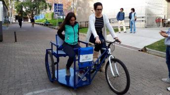 Comenzaron a rodar en Montevideo nuevas bicicletas inclusivas creadas por universitarios