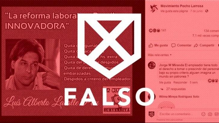 Es falso que Lacalle Pou haya dicho que la reforma laboral brasileña es «innovadora»