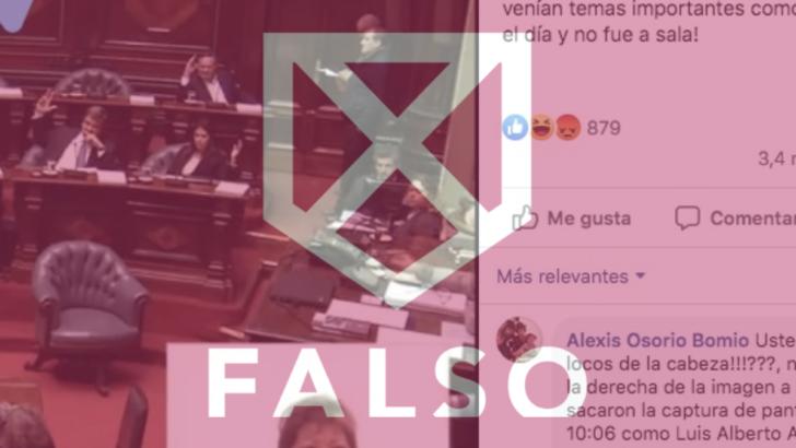 Es falso que Lacalle Pou faltó al debate sobre Venezuela en el Parlamento