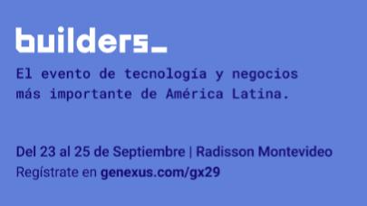 Entre el 23 y 25 de setiembre se realiza el encuentro Genexus GX29 Builders