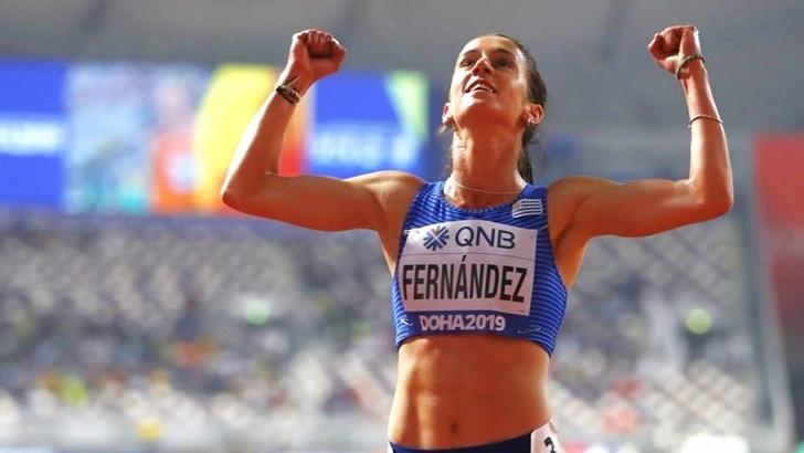 Mundial de atletismo: Contacto desde Doha con la atleta María Pía Fernández (PDA T05P165)