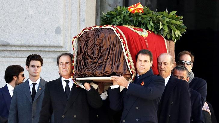 Gobierno español exhumó los restos de Francisco Franco del Valle de los Caídos