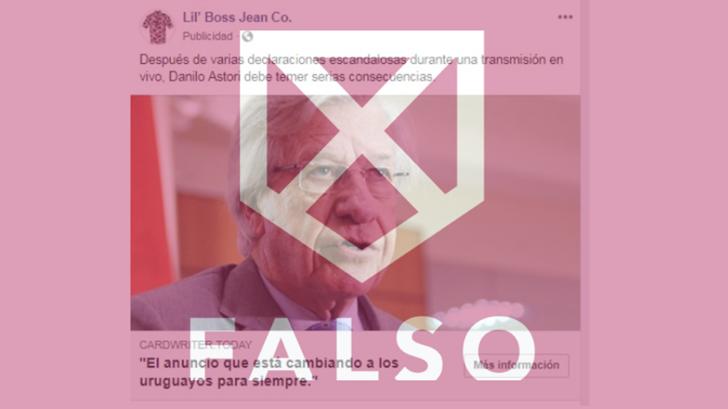 Es falso el artículo sobre el negocio millonario de Astori