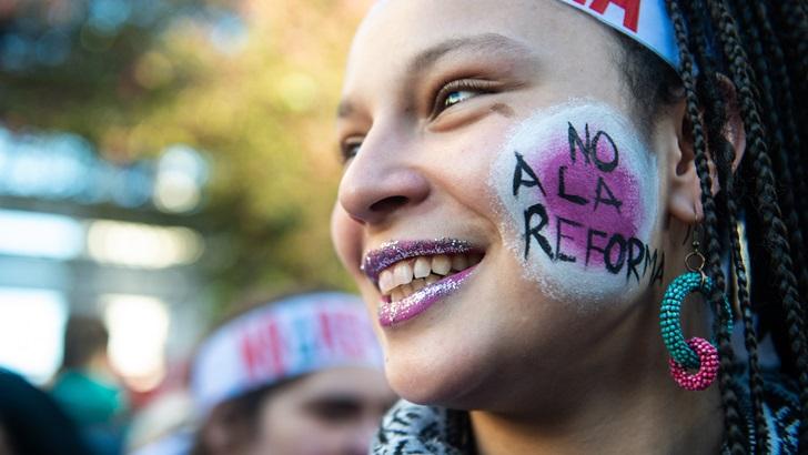 Marcha de No a la Reforma: «El 'no' ha ido creciendo en las encuestas, hay mucha gente más que se está enterando de qué es el plebiscito»