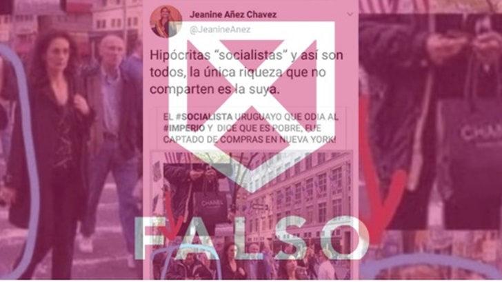 Es falsa la foto de José Mujica que tuiteó Jeanine Añez, la presidenta interina de Bolivia