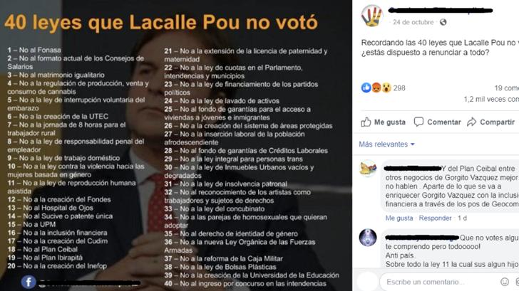 Verdades y falsedades en las «40 leyes que Lacalle Pou no votó»